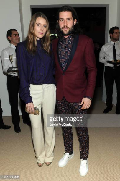 Dree Hemingway and restaurateur Phil Winser attend CFDA and Vogue 2013 Fashion Fund Finalists Celebration at Spring Studios on November 11 2013 in...