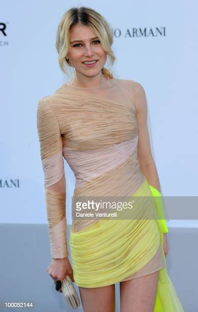 Dree Hemingway arrives at amfAR's Cinema Against AIDS 2010 benefit gala at the Hotel du Cap on May 20 2010 in Antibes France