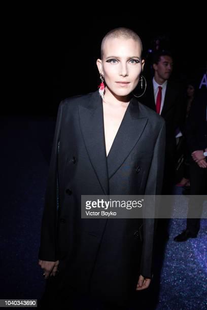 Dree Hemingway attends the ETAM show as part of the Paris Fashion Week Womenswear Spring/Summer 2019 on September 25 2018 in Paris France