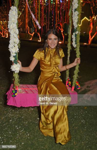 Dree Hemingway attends the Holi Saloni celebrations in the RAAS Devigarh on March 9 2018 in Udaipur India