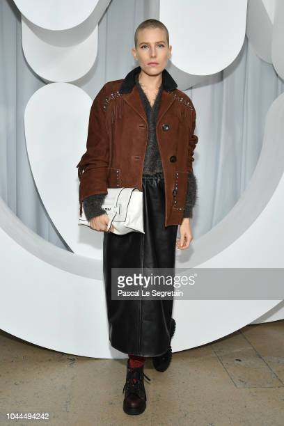 Dree Hemingway attends the Miu Miu show as part of the Paris Fashion Week Womenswear Spring/Summer 2019 on October 2 2018 in Paris France