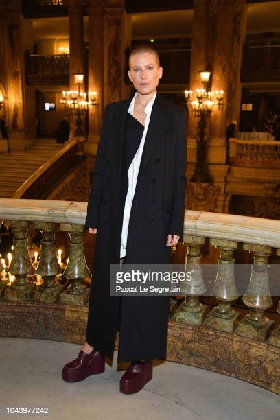 Dree Hemingway attends the Stella McCartney show as part of the Paris Fashion Week Womenswear Spring/Summer 2019 on October 1 2018 in Paris France