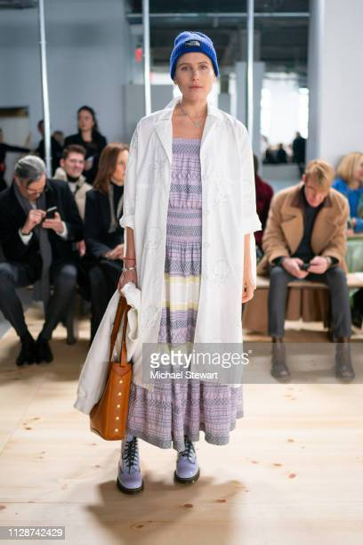 Dree Hemingway attends the Tory Burch Fall Winter 2019 Fashion Show at Pier 17 on February 10 2019 in New York City