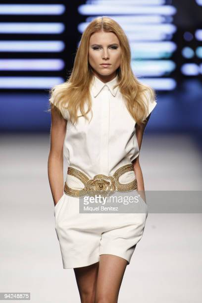 Dree Hemingway model walks the runway at the Teresa Helbig S/S 2010 fashion show during 080 Barcelona Fashion on September 3 2009 in Barcelona Spain