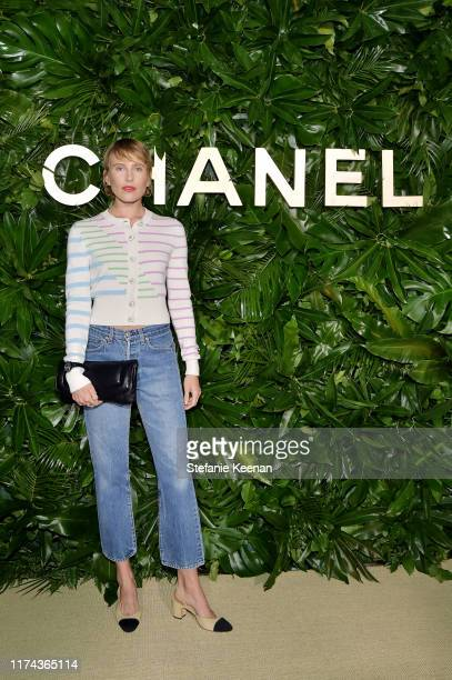 Dree Hemingwaywearing CHANEL attends Chanel Dinner Celebrating Gabrielle Chanel Essence With Margot Robbie on September 12 2019 in Los Angeles...