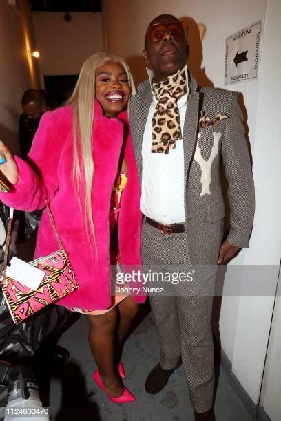Dreezy and Dapper Dan backstage at Stoop Talks with A$AP Rocky Dapper Dan at Terminal 5 on February 12 2019 in New York City