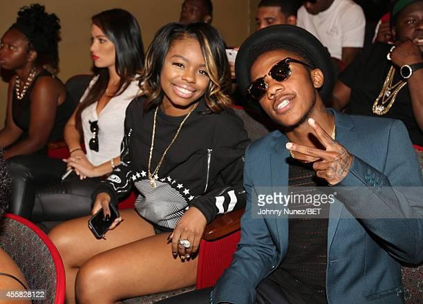 Dreezy and Dillon Cooper pose during the BET Hip Hop Awards 2014 at Boisfeuillet Jones Atlanta Civic Center on September 20 2014 in Atlanta Georgia