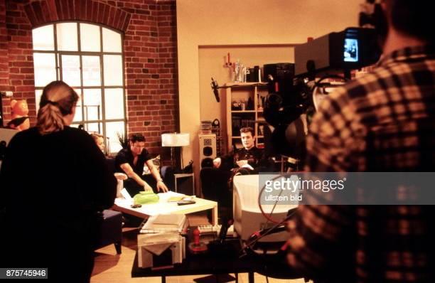 Dreharbeiten zur Fernsehserie 'Gute Zeiten schlechte Zeiten' in Babelsberg März 1999