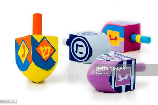 dreidels - dreidel stock photos and pictures