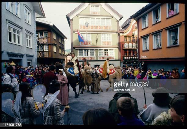 Dreikönigsfest Einzug der drei Könige Appenzell 1994