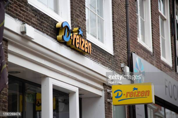 Reizen travel agency shop with logo as seen closed in the Dutch town Middelburg. According to local and international media D-RT Group, the parent of...