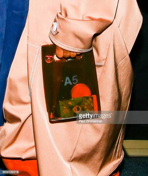 Dren Coleman purse detail at the 2018 CFDA Fashion Awards' Swarovski Award For Emerging Talent Nominee Cocktail Party at DUMBO House on May 16 2018...
