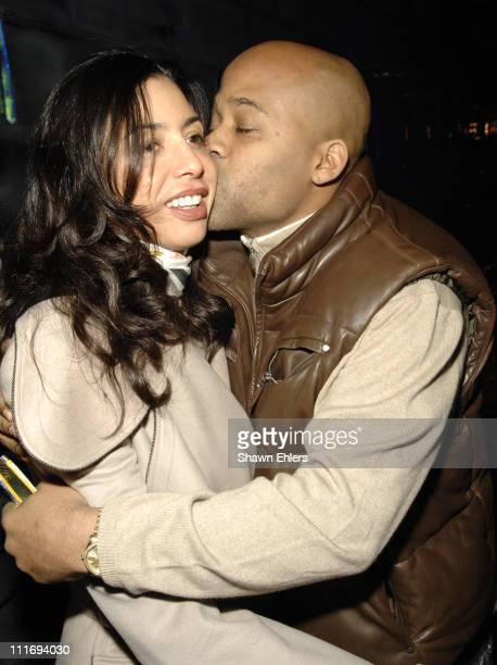 Drena De Niro and Damon Dash attend Y3 Fall 2008 during MercedesBenz Fashion Week at Bryant Park on February 3 2008 in New York City