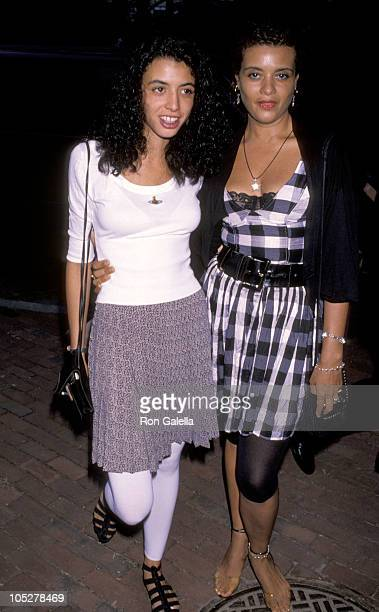 Drena De Niro and Diahnne Abbott during 1990 Crystal Apple Awards at Gracie Mansion in New York City New York United States