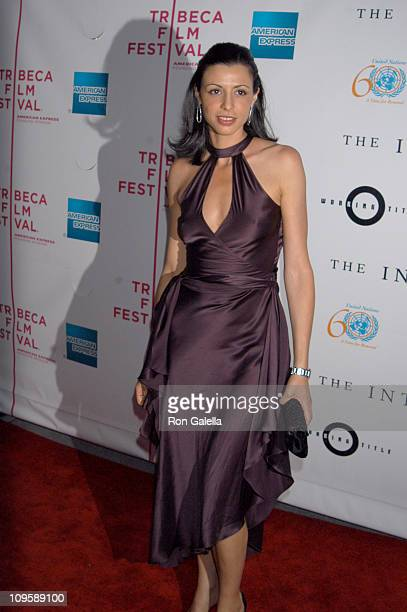 Drena De Niro during 4th Annual Tribeca Film Festival The Interpreter Premiere Outside Arrivals at Ziegfeld Theater in New York City New York United...