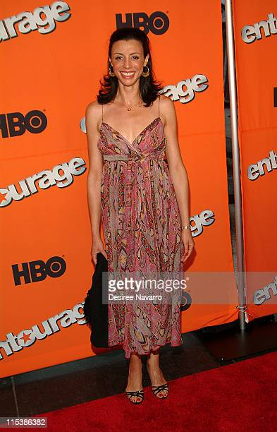 Drena De Niro during HBO's Entourage Season 2 New York City Premiere Arrivals at The Tent at Lincoln Center in New York City New York United States