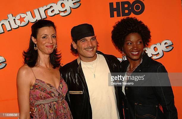 Drena De Niro Phillip Bloch and Yolonda Ross during HBO's Entourage Season 2 New York City Premiere Arrivals at The Tent at Lincoln Center in New...