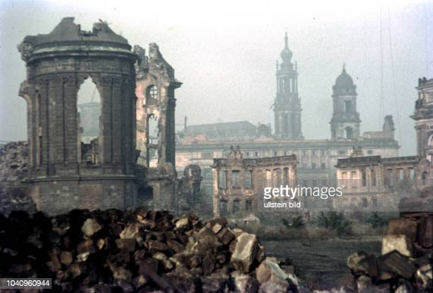 Dresden 1964 Frauenkirche Church of Our Lady in ruins