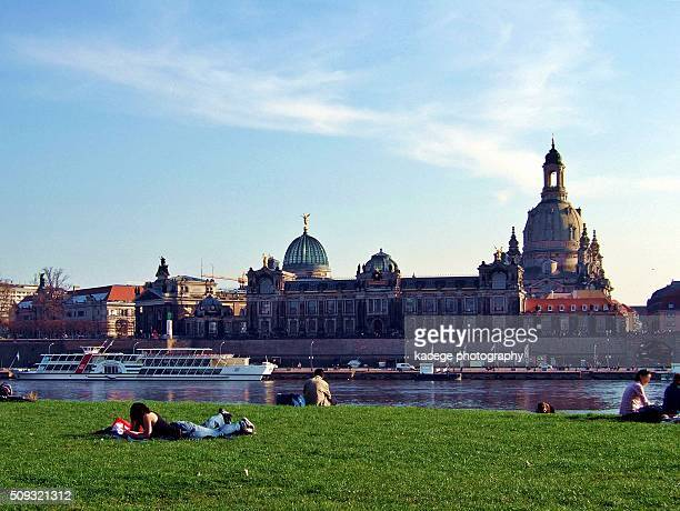 Dresden, banks of the Elbe river