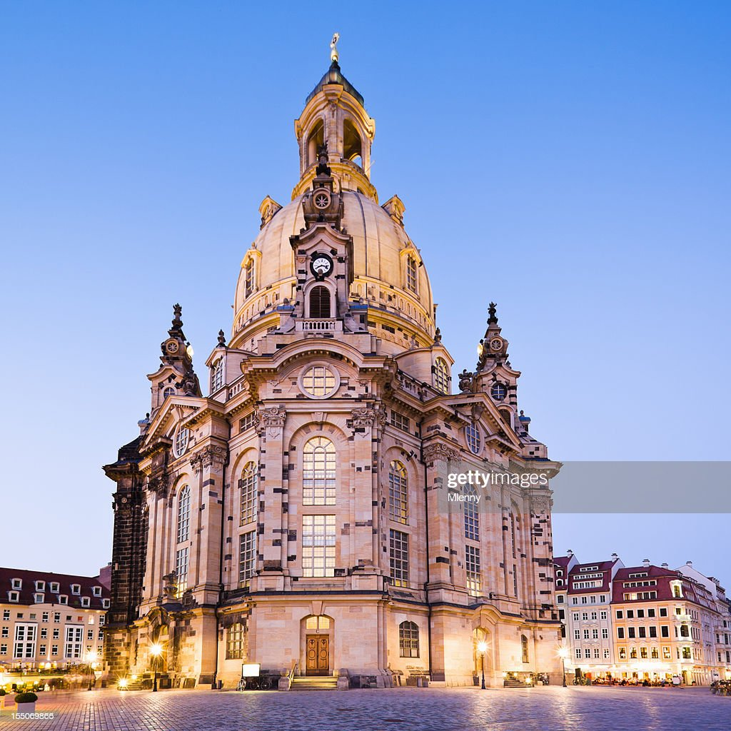 Dresden Frauenkirche Church of Our Lady Saxony Eastern Germany : Stock Photo