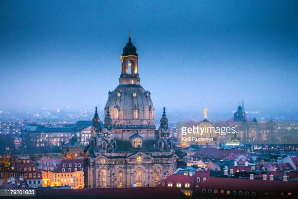 dresden frauenkirche (church of our lady), saxony, germany - international landmark stock pictures, royalty-free photos & images