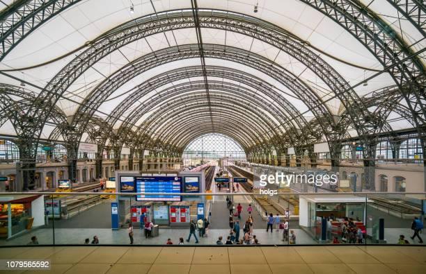 dresden hauptbahnhof, train station, deutschland, europa - dresden stock-fotos und bilder
