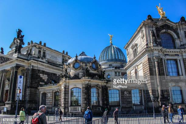 Dresden old city is seen on 30 April 2017 in Dresden Germany