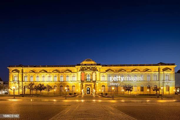 Dresden Semper Gallery Zwinger bei Nacht