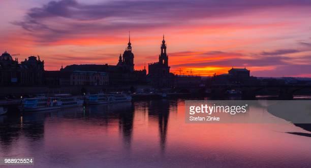 Dresden Skyline Sunset