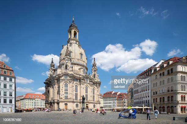 dresdner frauenkirche, dresden, germany - dresda foto e immagini stock