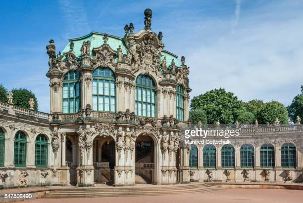dresdner zwinger wall pavillion - dresden stock pictures, royalty-free photos & images