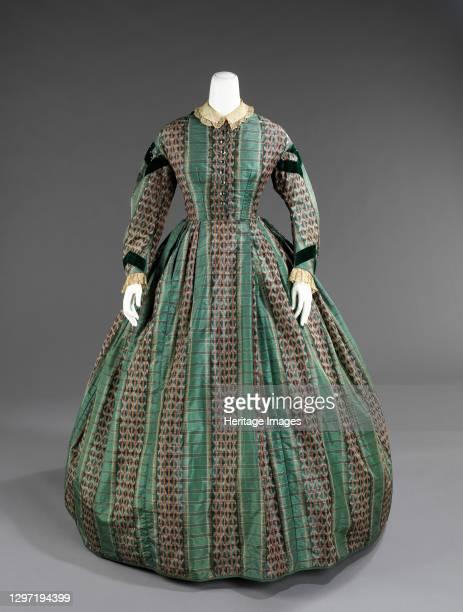 Dress, American, circa 1865. Artist Unknown.
