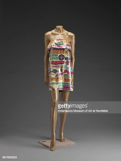 Dress by American artist Stephen Sprouse Spring/Summer 1988 Emma Harter Sweetser Fund