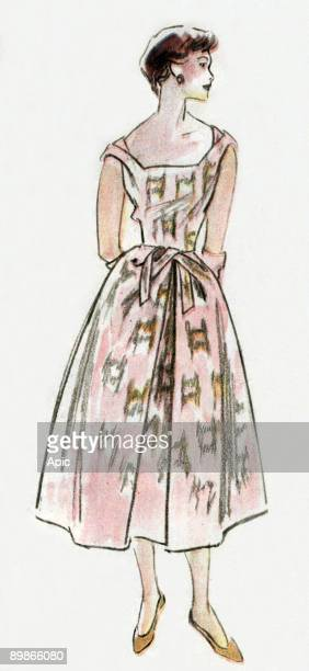Dress by Hubert de Givenchy drawing