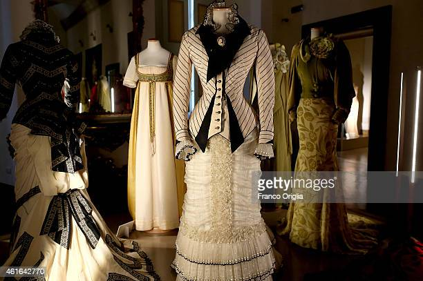 Dress by Italian costume designer Maurizio Millenotti worn by Sophie Marceau for the movie 'Anna Karenina' by Bernard Rose is shown during the 'I...
