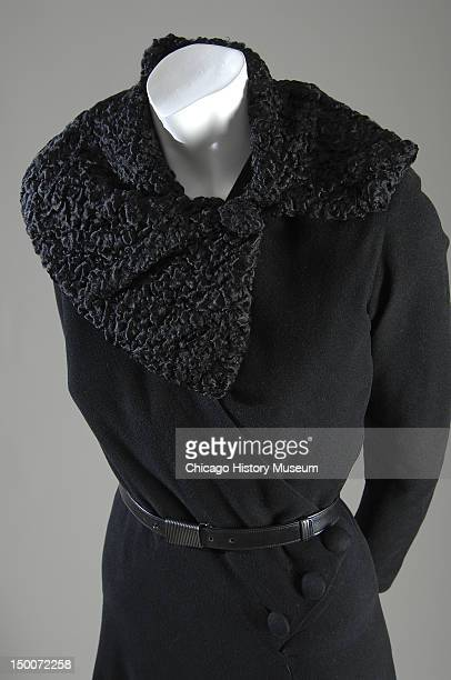 Dress ca 1935 Wool crepe and caracal by Madeleine Vionnet This dress was initially designed as a readytowear dress for production by Samuel Winston