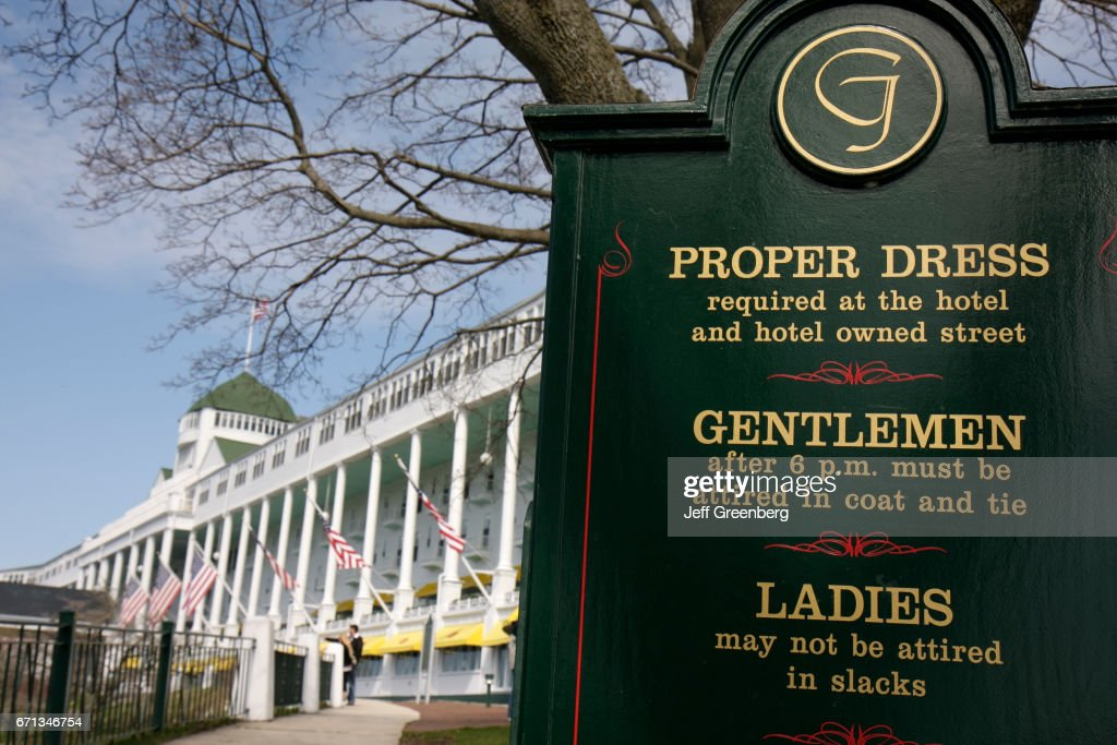 A Dress Code Sign Outside The Grand Hotel News Photo Getty Images