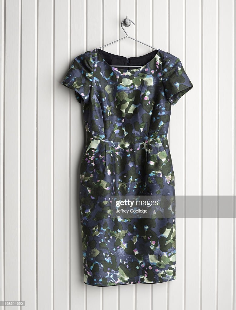 Dress on Coat Hanger : Stock Photo