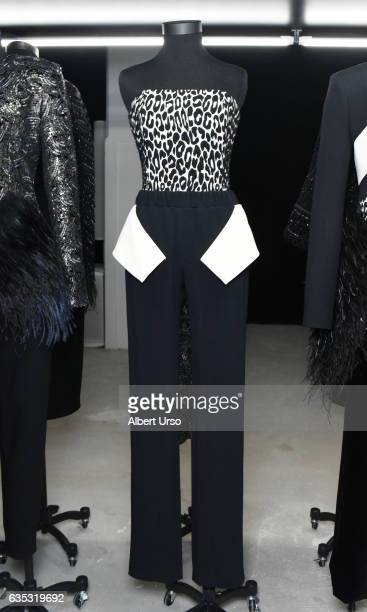 A dress on display at the Sally LaPointe presentation during New York Fashion Week on February 14 2017 in New York City
