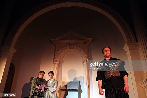 Dress rehearsal of Martin Halpern's opera 'The Dwarf Trees' at New York New Church on Wednesday night June 22 2011This imageFrom left Jean Hebert as...