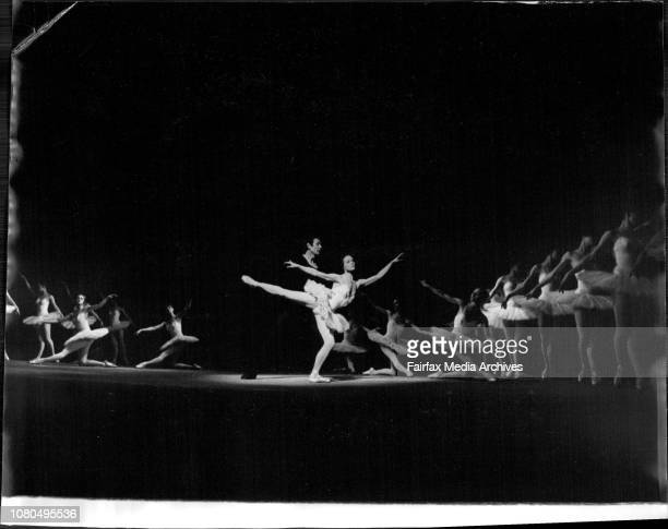 Dress rehearsal of the Russian Ballet at the Regent Theatre.Dancers and the Orchestra.Melinda Flower 5 of Earlwood looks to the dancers from the...