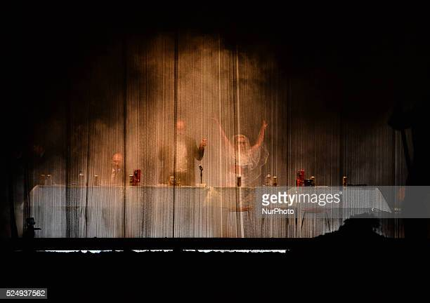 A dress rehearsal of the worldrenowned production of Hamlet from Berlin's Schaubuhne Theatre directed by Thomas Ostermeier to mark the opening of...