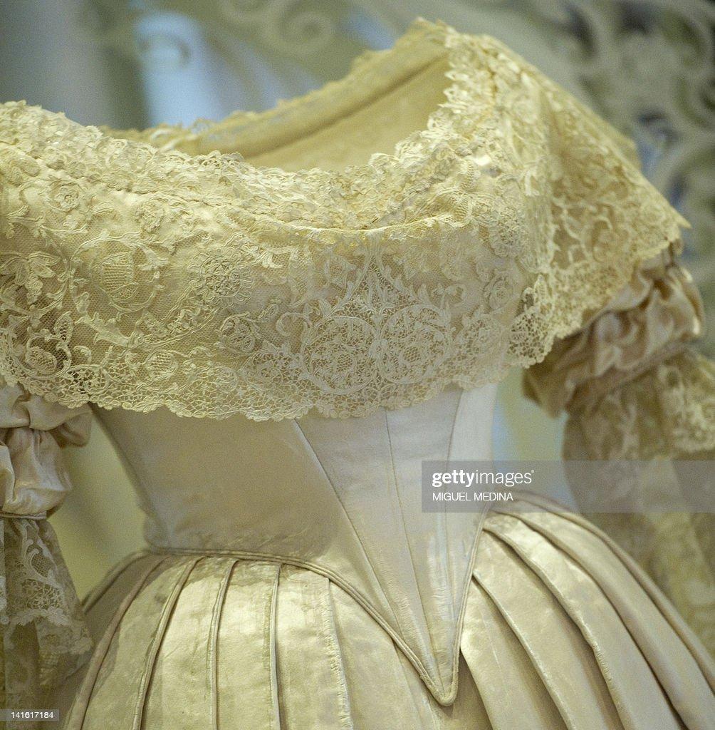 A dress worn by Britain's Queen Victoria : News Photo