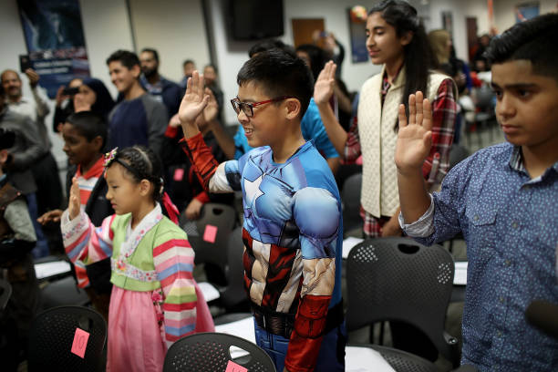 Halloween-Themed Citizenship Ceremony Held For Children At