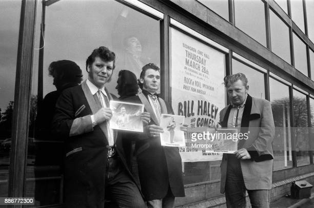 Dressed for the occasion Ron West and his friends Dave Haycock and Brian Sweatman have managed to secure their tickets for the 'Bill Haley and the...
