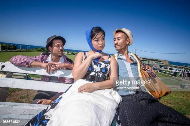 Dressed in retro fashions, a young Spanish male immigrant, joins an Australian-Asian couple, to express his sexual interest in the husband, to the wife's rising suspicions, outside a bowling club, overlooking the ocean, on a hot, sunny summer's afternoon.