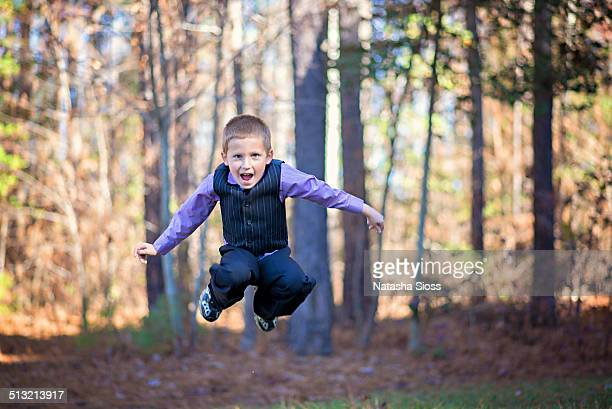 dressed up and jumping - hazel bond photos et images de collection