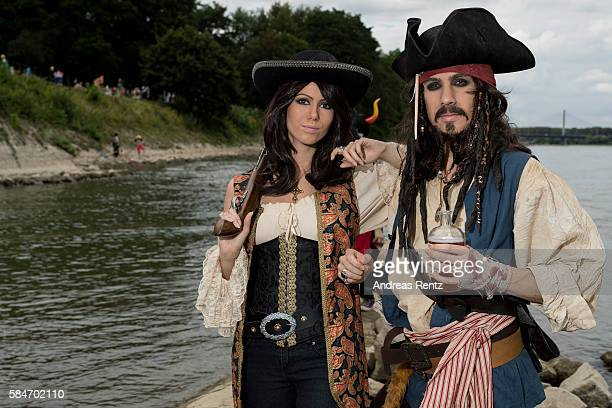 Dressedup cosplayers attend the annual AnimagiC anime convention on July 30 2016 in Bonn Germany The AnimagiC is a German annual anime convention and...