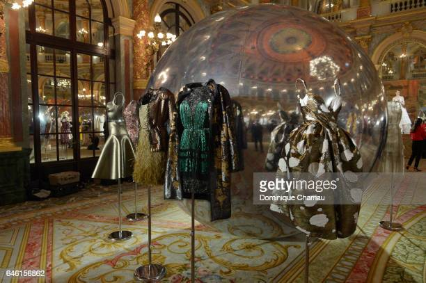 Dresses in display during the Paule Ka Presentation as part of the Paris Fashion Week Womenswear Fall/Winter 2017/2018 at Hotel Intercontinental on...
