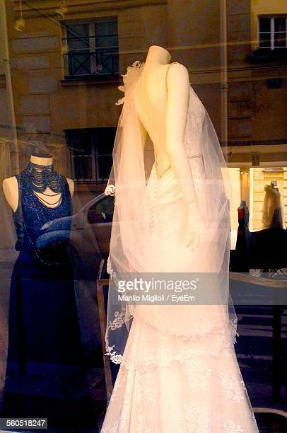 Dresses On Mannequins In Boutique